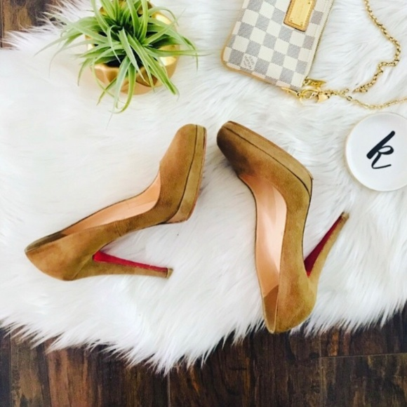 Christian Louboutin Shoes - Rare Christian Louboutin Round Pointy Toe Heels